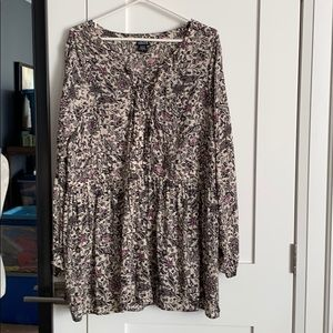 Torrid Floral Blouse 3X Plus Size Black Pink Cream
